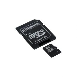 Memory Card Kingston MicroSDHC 16GB Class 10 UHS-I + SD adapter (SDC10G2 / 16GB)