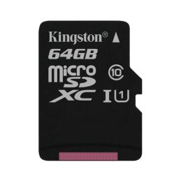 Memory Card Kingston 64GB microSDXC C10 UHS-I (SDC10G2 / 64GBSP)