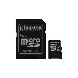 Memory Card Kingston 128GB microSDXC C10 UHS-I + SD adapter (SDC10G2 / 128GB)