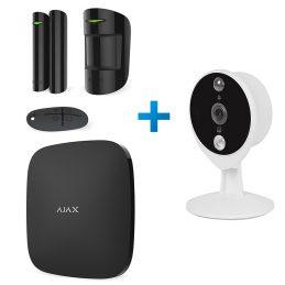 Zestaw alarmowy Ajax StarterKit czarny + kamera IP Tecsar Airy TA-2