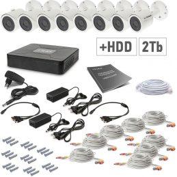 A set of video surveillance Tecsar 8OUT + 2TB HDD