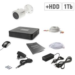 The set of video surveillance Tecsar 1OUT + 1TB HDD