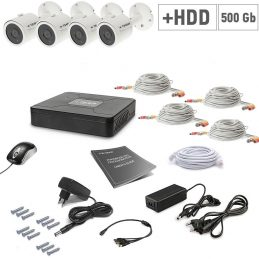A set of video surveillance Tecsar 4OUT + 500GB HDD