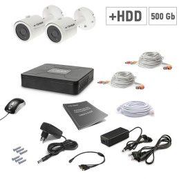 A set of video surveillance Tecsar 2OUT + 500GB HDD