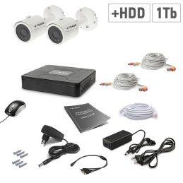 A set of video surveillance Tecsar 2OUT + 1TB HDD