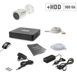 A set of video surveillance Tecsar 1OUT + 500GB HDD