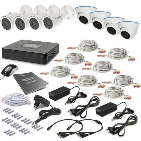 Комплект видеонаблюдения Tecsar 8OUT-MIX LUX